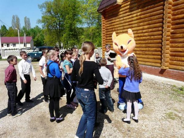 Лис Лисыч встречает гостей