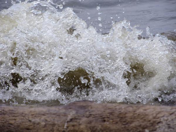 Волны разбивались в брызги о прибрежные камни
