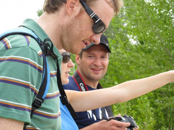Дмитрий Лопатин, Елена Нустрова (организаторы от СИБУРа) и блогер Вадим Кондратьев