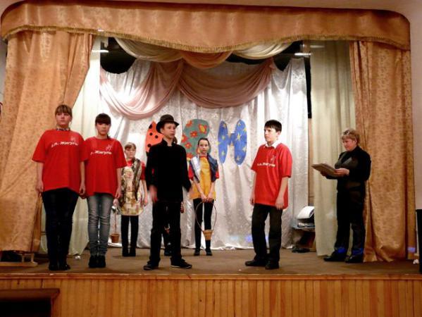 Выступление команды школы с.Жигули