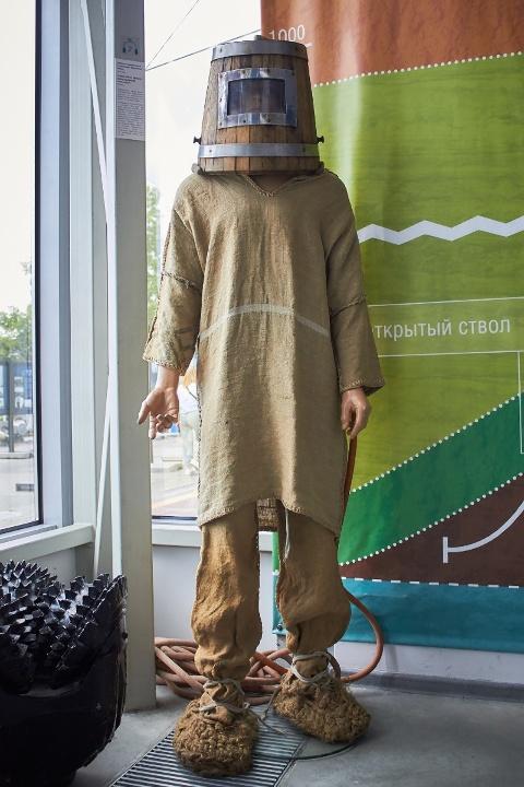 Славянский водолзаный костюм XVIII века (разработка Ефима Никонова), лапти прилагаются