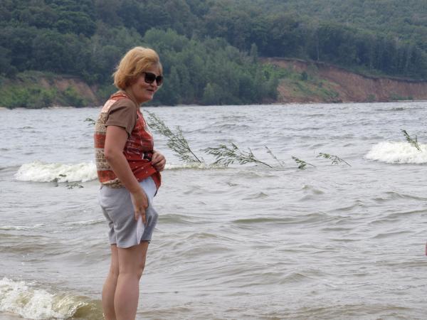 Хоть и не совсем «море», но барашки на волнах имеются