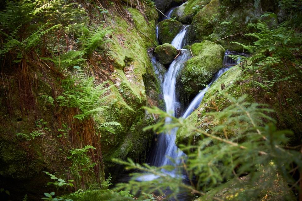 Водопад на картах не отмечен, видимо не считается чем-то значимым