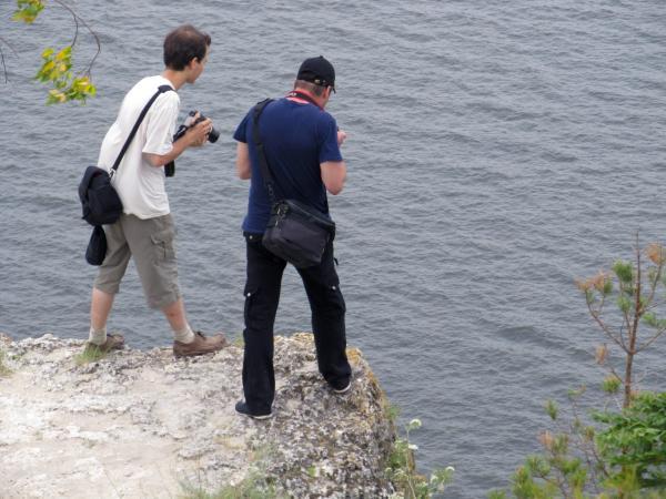 Пока тольяттинские блогеры любовались видами с отвесного утеса...